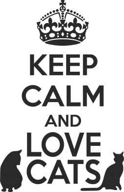 Принт Толстовка KEEP CALM and LOVE CATS - FatLine
