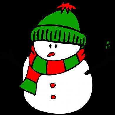 Принт Тельняшка с длинным рукавом Снеговик - FatLine
