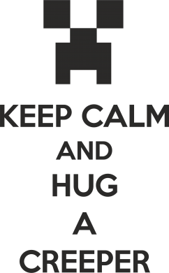 Принт Футболка KEEP CALM and HUG A CREEPER - FatLine