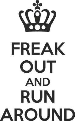 Принт Подушка FREAK OUT AND RUN AROUND - FatLine