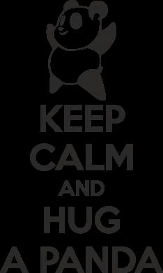 Принт Футболка с длинным рукавом KEEP CALM and HUG A PANDA - FatLine