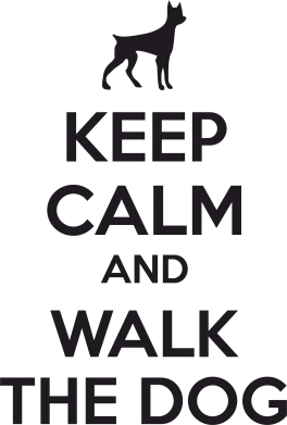 Принт Фартук KEEP CALM and WALK THE DOG - FatLine