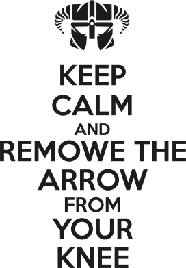 Принт Подушка KEEP CALM and REMOVE THE ARROW - FatLine