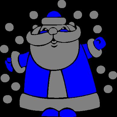 Принт Коврик для мыши Прикольный дед мороз - FatLine