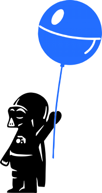 Принт Женские шорты Дарт Вейдер с шариком - FatLine