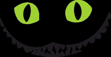 Принт Коврик для мыши чеширский кот - FatLine