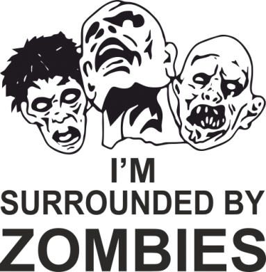 Принт Футболка Поло I'm surrounded by zombies - FatLine