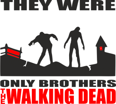 Принт Подушка They were only brothers Walking dead - FatLine