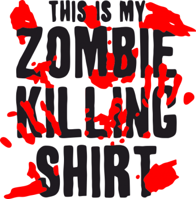 Принт Футболка Поло This is my zombie killing shirt - FatLine