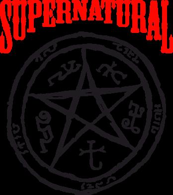 Принт Коврик для мыши Supernatural круг - FatLine