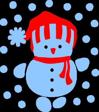 Принт Подушка Снеговик в шапке - FatLine