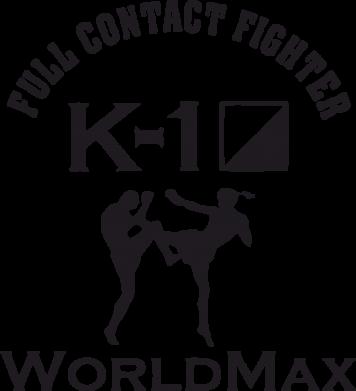 Принт Футболка с длинным рукавом Full contact fighter K-1 Worldmax - FatLine