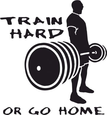 Принт Сумка Train Hard or Go Home - FatLine