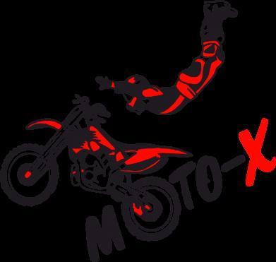 Принт Женская футболка с V-образным вырезом Moto-X - FatLine
