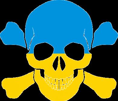 Принт Мужская футболка  с V-образным вырезом Двокольоровий череп - FatLine