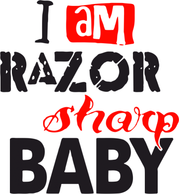 Принт Сумка I am RAZOR sharp Baby - FatLine