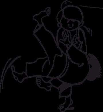 Принт Коврик для мыши Judo Fighters - FatLine