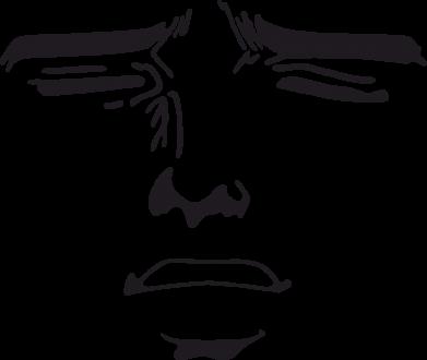 Принт Коврик для мыши Лицо аниме - FatLine