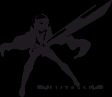 Принт Мужская футболка  с V-образным вырезом Клеймор - FatLine