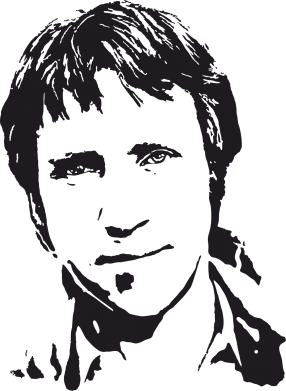 Принт Мужская футболка  с V-образным вырезом Владимир Высоцкий портрет - FatLine
