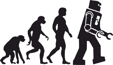 Принт Футболка The Bing Bang theory Evolution - FatLine