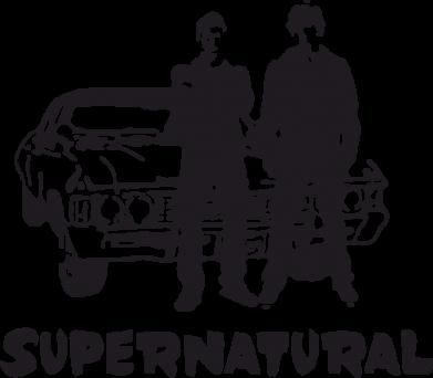 Принт Женская футболка поло Supernatural Братья Винчестеры - FatLine