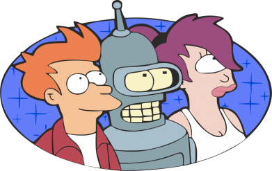 Принт Кружка 320ml Трио Futurama - FatLine