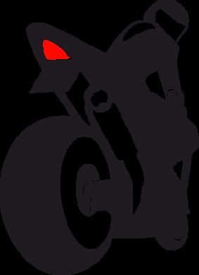Принт Женская футболка с V-образным вырезом Мотоциклист на спорте - FatLine