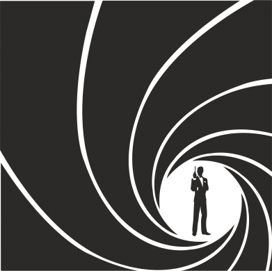 Принт Женская футболка с V-образным вырезом Agent 007 - FatLine