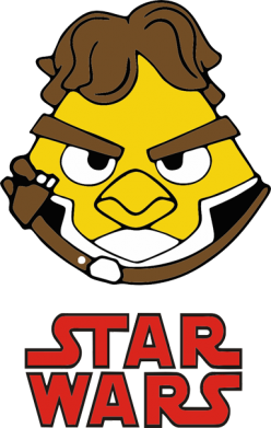Принт Майка-тельняшка Angry Birds Star Wars 1 - FatLine