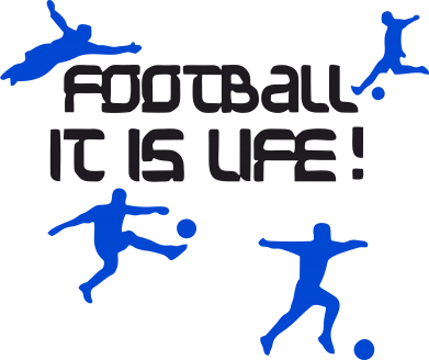 Принт Толстовка Football is my life - FatLine