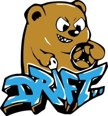 Принт Футболка Поло Drift Bear - FatLine