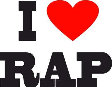 Принт Фартук I love rap - FatLine