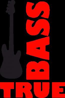 Принт Женская футболка поло Bass True - FatLine