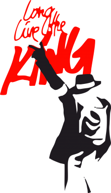 Принт Мужская футболка  с V-образным вырезом King MJ - FatLine