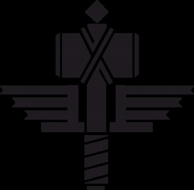 Принт Толстовка Manowar Logo - FatLine