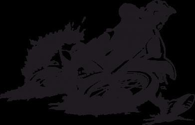 Принт Женская футболка с V-образным вырезом Мотокросс лого - FatLine