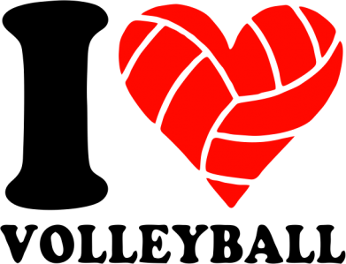 Принт Фартук I love volleyball - FatLine
