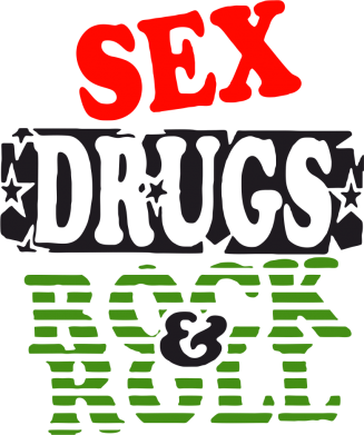 Принт Подушка Sex drugs and rock&roll - FatLine