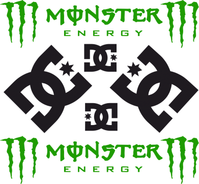 Принт Подушка Monster Energy DC Logo - FatLine