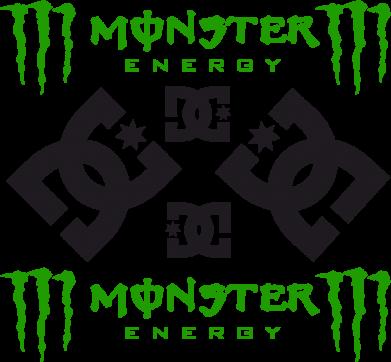 Принт Фартук Monster Energy DC Logo - FatLine