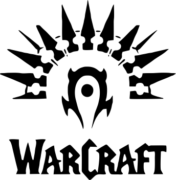 Принт Кружка 320ml WarCraft Logo - FatLine