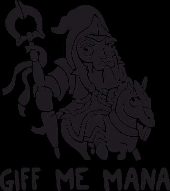 Принт Мужская толстовка Giff Me Mana, Фото № 1 - FatLine