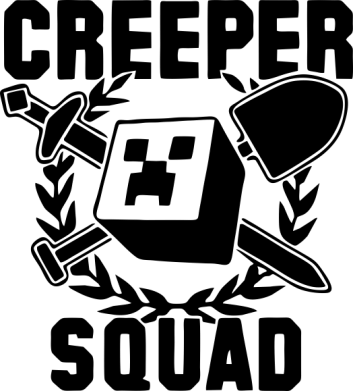 Принт Реглан (свитшот) Creeper Squad - FatLine