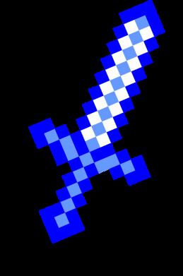 Принт Женская футболка с V-образным вырезом Меч Minecraft - FatLine