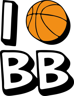 Принт Футболка Поло I love basketball - FatLine