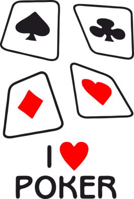 Принт Толстовка I love poker - FatLine
