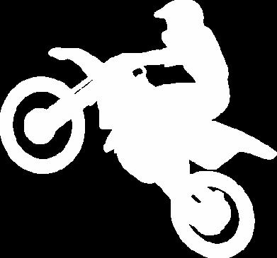 Принт Майка-тельняшка Кроссовый мотоцикл - FatLine
