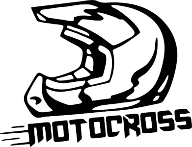 Принт Женская футболка с V-образным вырезом Шлем Мотокросс - FatLine