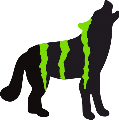 Принт Женская Monster Energy Wolf - FatLine